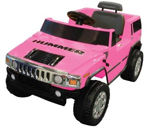 Battery-Powered Hummer Ride-On - Pink