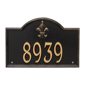 Personalized Bayou Vista Address Plaque - 1 Line