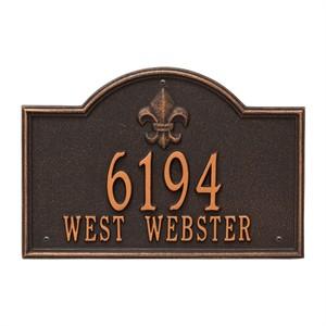 Personalized Bayou Vista Address Plaque - 2 Line