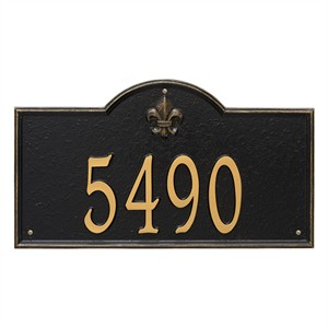 Personalized Bayou Vista Large Address Plaque - 1 Line