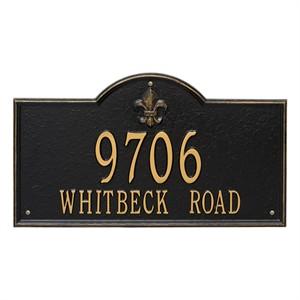 Personalized Bayou Vista Large Address Plaque - 2 Line