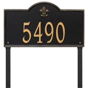 Personalized Bayou Vista Large Lawn Address Plaque - 1 Line