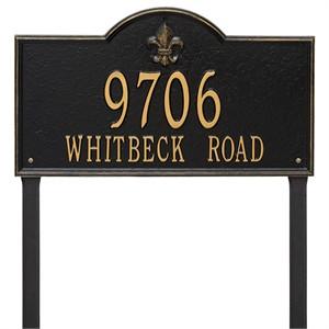 Personalized Bayou Vista Large Lawn Address Plaque - 2 Line