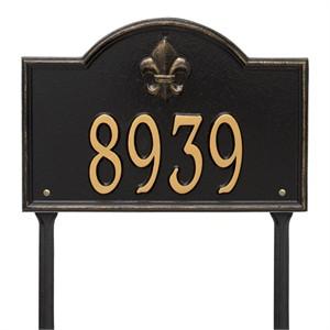 Personalized Bayou Vista Lawn Address Plaque - 1 Line