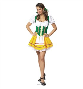 Beer Garden Girl Cardboard Cutout