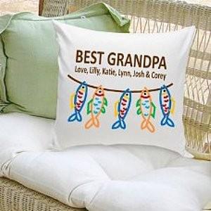 Best Grandpa Personalized Pillow