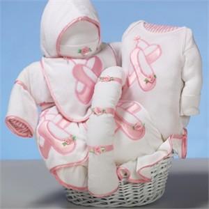 Baby Slipper Gift Basket <br> for Girl