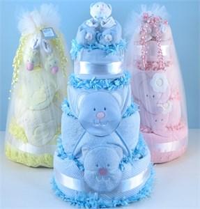 Elephant Baby Cake Supreme Gift Basket
