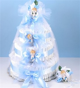 Diaper Cake Grande-Blue