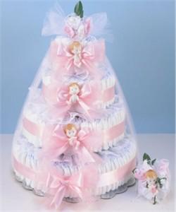 Diaper Cake Grande-Pink