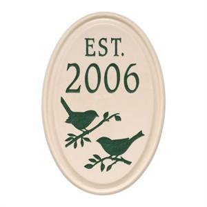 Bird Established Ceramic Personalized Plaque