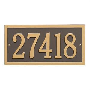 Personalized Bismark Address Plaque - 1 Line