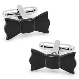 Black Bow Tie Cufflinks