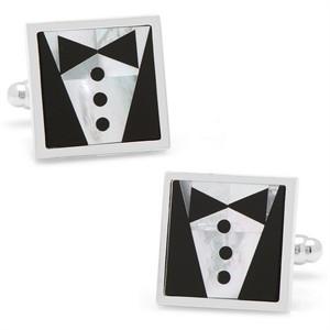 Black Tie Tuxedo Cufflinks