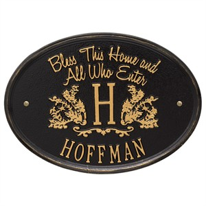 Bless This Home Personalized Wall Plaque