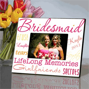 Personalized Bridesmaid Picture Frame