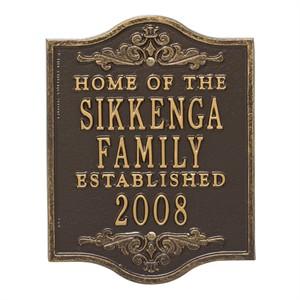 Buena Vista Anniversary Personalized Plaque