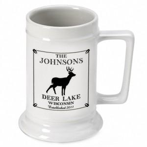 Cabin Series Personalized Beer Stein - Deer