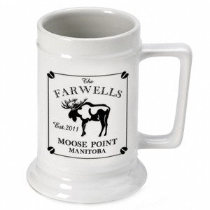 Cabin Series Personalized Beer Stein - Moose