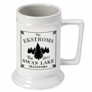 Cabin Series Personalized Beer Stein - Spruce
