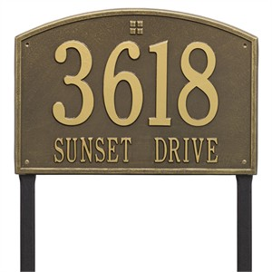 Personalized Cape Charles Large Lawn Address Plaque - 2 Line