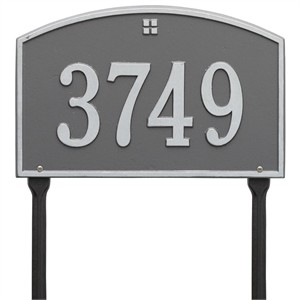 Personalized Cape Charles Lawn Address Plaque - 1 Line