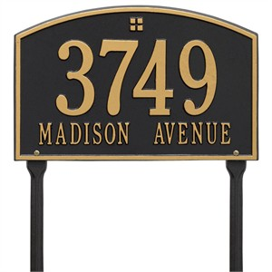 Personalized Cape Charles Lawn Address Plaque - 2 Line