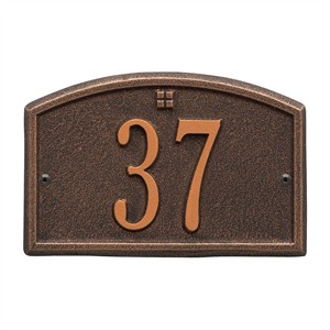 Personalized Cape Charles Small Address Plaque - 1 Line