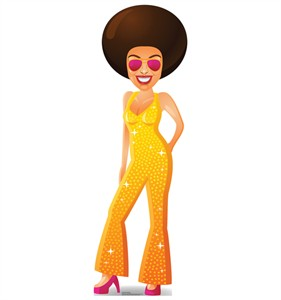 Cartoon Disco Dancer Cardboard Cutout