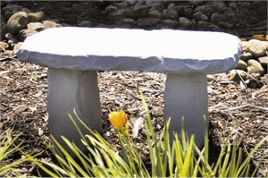Carved Med. Bench