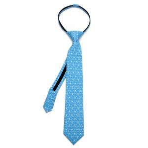 Chewbacca Dot Blue Boys' Zipper Silk Tie