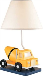 Cement Truck Lamp with 7 Watt Night Light and 3 Way Switch