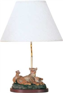 Lion Family Accent Lamp