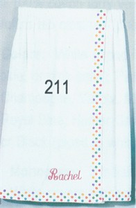Personalized Polka Dot Sarong Wrap