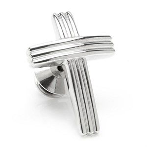 Cross Stainless Steel Lapel Pin