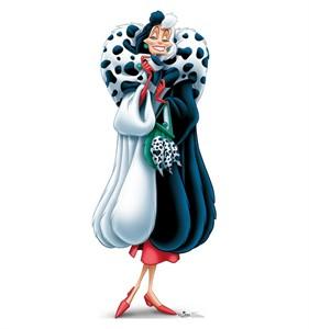Cruella De Vil Disney Villains Cardboard Cutout