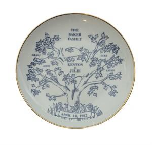 Personalized Anniversary Keepsake Plate