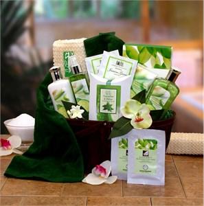 Cucumber & Melon Calming Spa Gift Basket