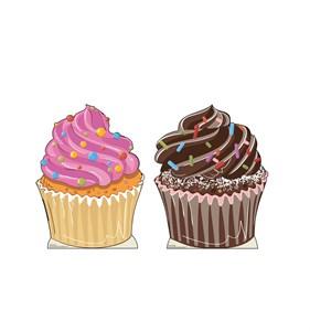 Cupcakes Cardboard Cutout