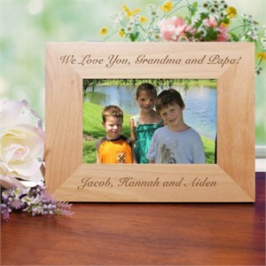 personalized wood picture frames engraved wooden frames