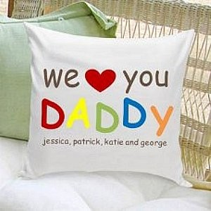 Daddy Love Personalized Pillow