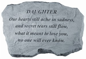 DAUGHTER Our hearts still ache…Memorial Stone