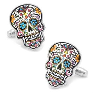 Day of the Dead Skull Cufflinks