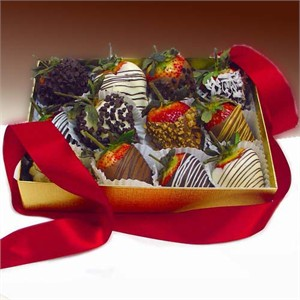 Decadent Chocolate Covered Strawberries Gift Box