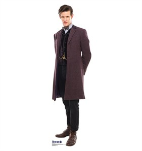 Doctor Who Purple Coat 11th Doctor Cardboard Cutout