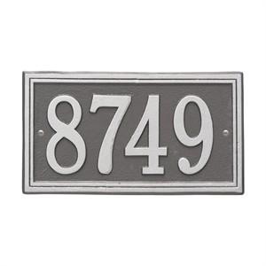 Personalized Double Line Address Plaque - 1 Line