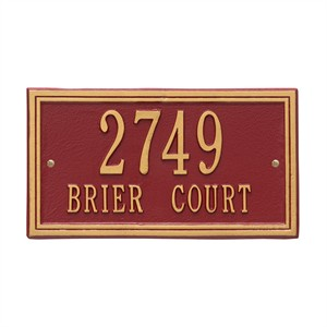 Personalized Double Line Address Plaque - 2 Line