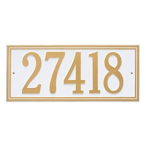 Personalized Double Line Large Address Plaque - 1 Line