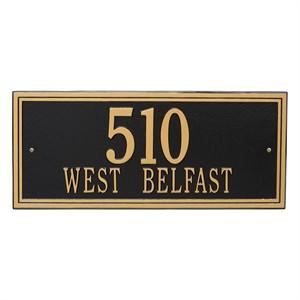 Personalized Double Line Large Address Plaque - 2 Line