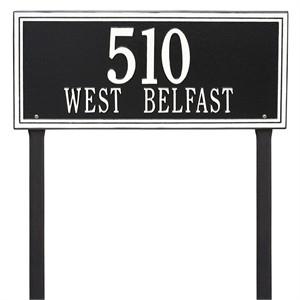 Personalized Double Line Large Lawn Address Plaque - 2 Line